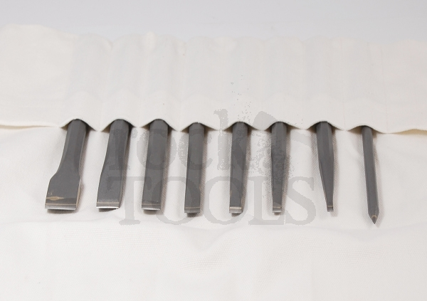 Stone chisels for sculptors and masons